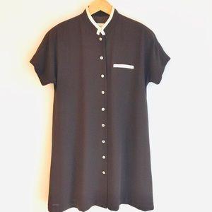 Vintage Evan Picone Brown Shift Dress Size 10P